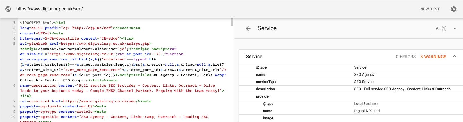 Service Schema Example